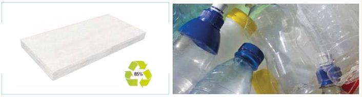 isolante termico in fibra ignifuga anallergica riciclata da pet