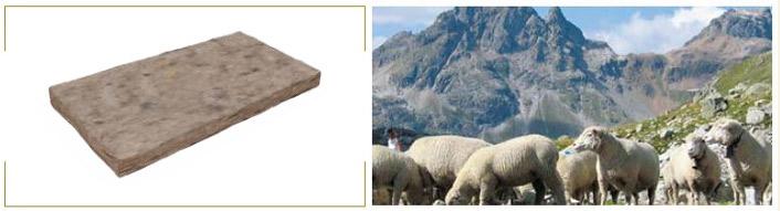 isolante termico in lana di pecora
